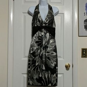 Maggy London Black and Silver Dress size 10
